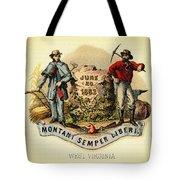 West Virginia Coat Of Arms - 1876 Tote Bag