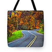 West Virginia Curves Painted Tote Bag