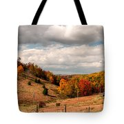 West Virginia Rural Landscape Fall Tote Bag