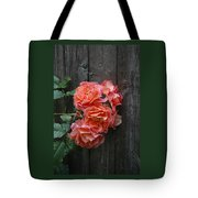 Westerland Rose Wood Fence Tote Bag