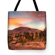Western Barn At Sunset II Tote Bag