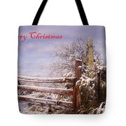 Western Christmas Tote Bag