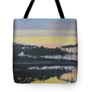 Western Lake Sunrise Tote Bag