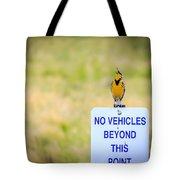 Western Meadowlark Singing Tote Bag