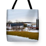 Western New York Farm As An Oil Painting Tote Bag