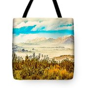 Western Panorama From Mountain At Joshua Tree National Park Tote Bag