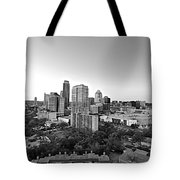 Western View Of Austin Skyline Tote Bag