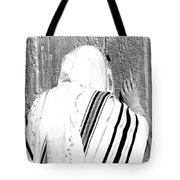 Western Wall Devotion Tote Bag