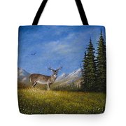 Western Whitetail Tote Bag