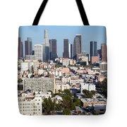 Westlake And Los Angeles Skyline Tote Bag