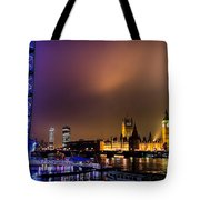 Westminster And Eye Night Glow Tote Bag
