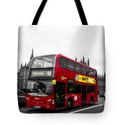 Westminster And Red Bus Tote Bag