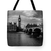 Westminster Pano Bw Tote Bag