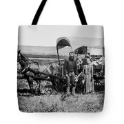 Westward Family In Covered Wagon C. 1886 Tote Bag