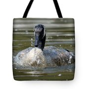 Wet And Wild - Canadian Goose Tote Bag
