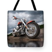 Wet And Wild - Harley Screamin' Eagle Reflection Tote Bag