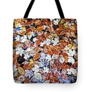 Wet Autumn Leaves Tote Bag