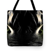 Wet Eye Of A Tiger Tote Bag