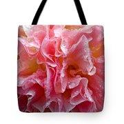 Wet Hollyhock Flower Upclose Tote Bag