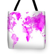 Wet Paint World Map Tote Bag