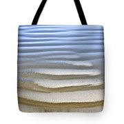 Wet Sand Texture On Ocean Shore Tote Bag