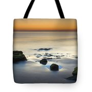 Wet Sunset Reflections Tote Bag