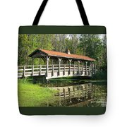 Wetland Footbridge Tote Bag
