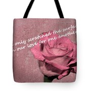 We've Only Scratched The Surface Valentine Tote Bag