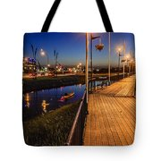 Embankment Of Weyburn Tote Bag