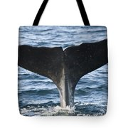 Whale Diving Tote Bag