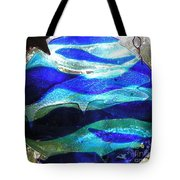 Whale Family At Home Tote Bag