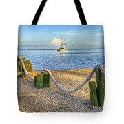 Whale Harbor Tote Bag