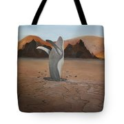 Whale In Desert Tote Bag