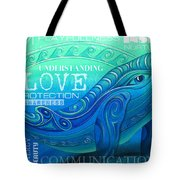 Whale Totem Wordart Tote Bag