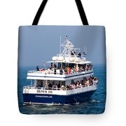 Whale Watching Boat Tote Bag