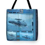 Whaling Wall 42 -  East Coast Humpbacks - Original Painting By Wyland Tote Bag
