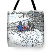 What Fascinates Children And Dogs -  Snow Day - Winter Tote Bag