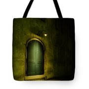 What Is Behind The Green Door? Tote Bag