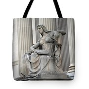 What Is Past Is Prologue Statue At National Archives -- 2 Tote Bag