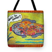 What's For Dinner Tote Bag by Susan Rienzo