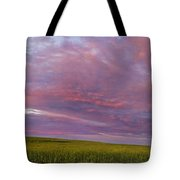Wheat Field Sunset Panorama Tote Bag