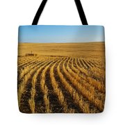 Wheat Rows Tote Bag