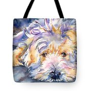 Wheaten Terrier Painting Tote Bag