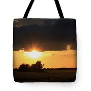 Wheatfield Sunset With Cloud's And Tree's Tote Bag
