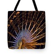 Wheel At Night Niagara Falls Tote Bag