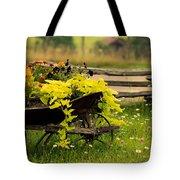 Wheel Barrow Of Flowers Tote Bag