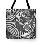 Wheel In The Sky Bw Tote Bag by Angelina Vick