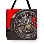Wheel Of A Ferrari Tote Bag
