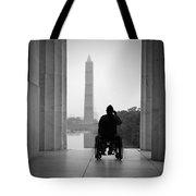 Wheelchair Vet Salute Tote Bag