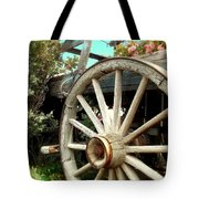 Wheels And Blooms Tote Bag